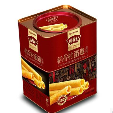 稻香村家乡鸡蛋卷铁罐手工制作传统糕点