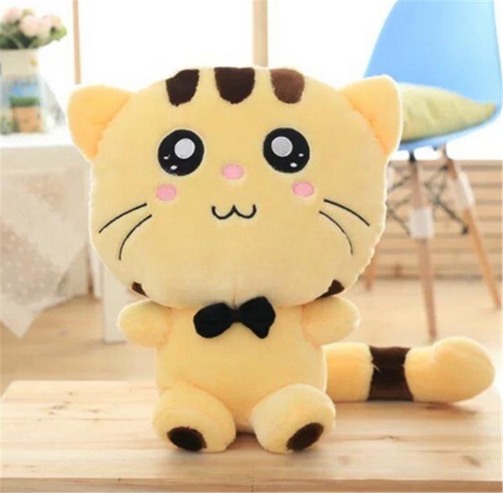 毛绒玩具大脸猫公仔布娃娃饭团猫玩偶招财猫咪 米黄色可爱款 可选尺寸