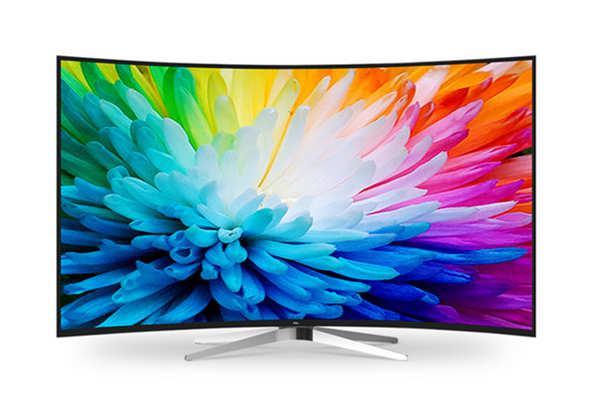 tcl l55c2-cudg 55英寸4k曲面量子点黑水晶十四核安卓智能电视图片