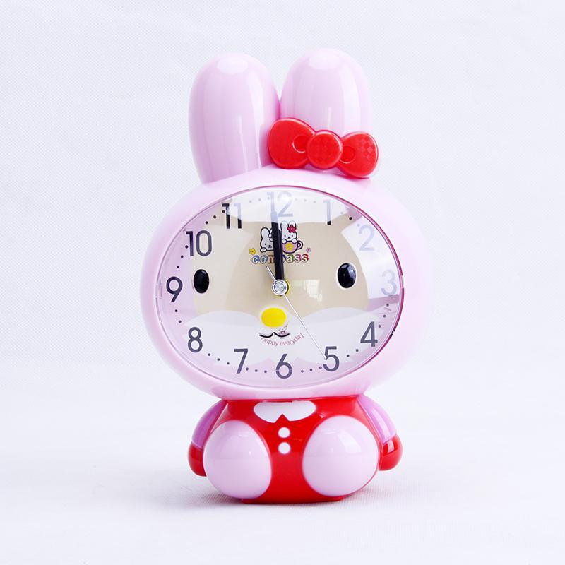 康巴斯 kt02小兔子闹钟 蓝色 白色 绿色 米色 粉色 个 盒装