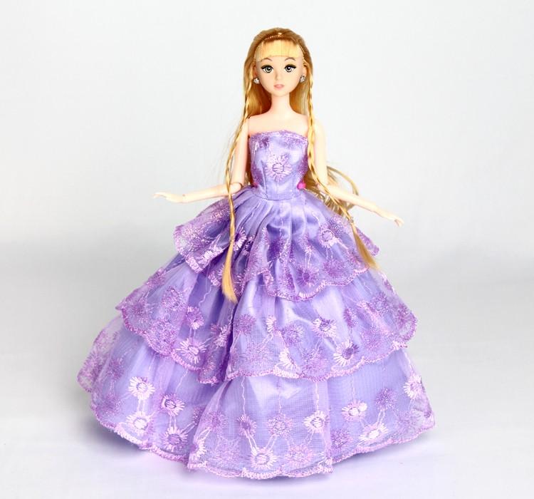 新款芭巴比娃娃公主玩具礼盒单个婚纱新娘女童玩具女孩生日礼物