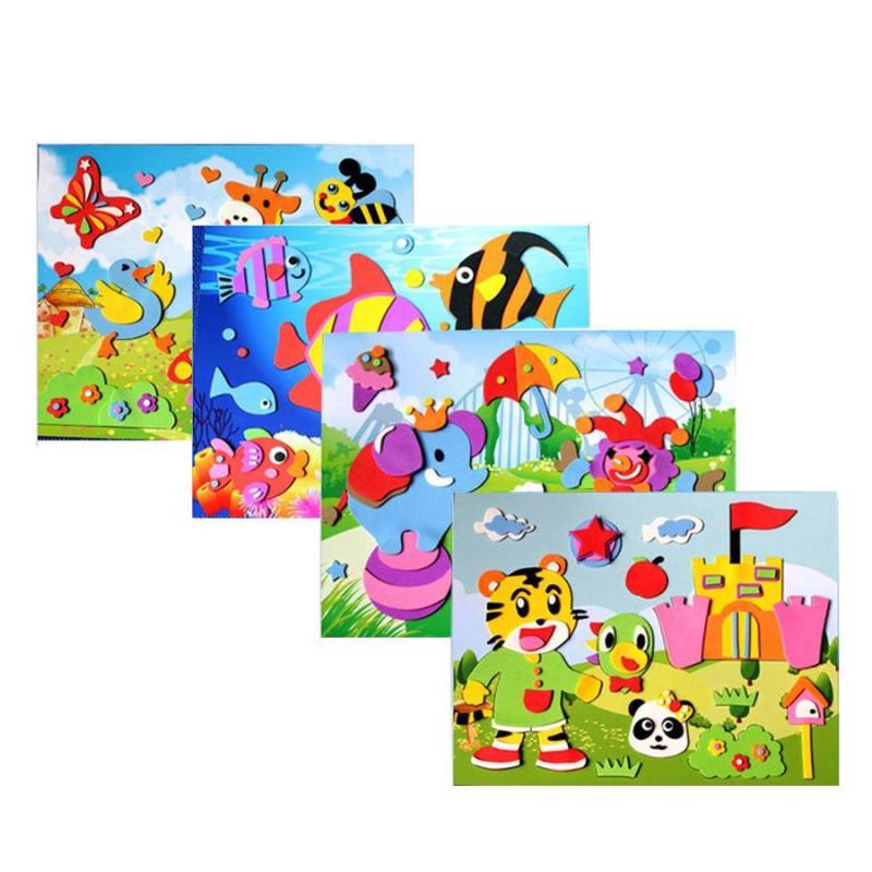 儿童eva立体贴画手工制作材料3d粘贴画幼儿园diy贴纸玩具 20张大号